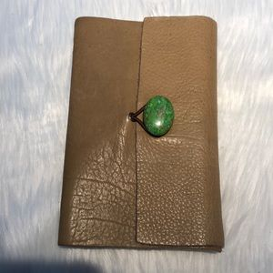 Real leather and geode notebook
